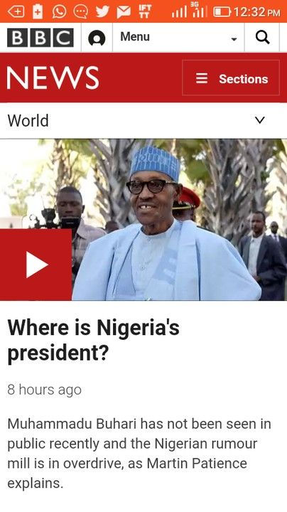AMAZING STORIES AROUND THE WORLD: Where Is Nigeria's President, Muhammadu Buhari? - ...