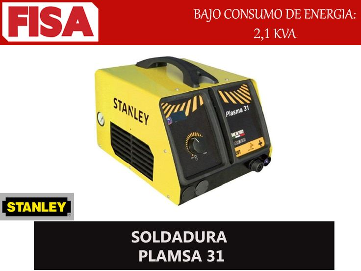 SOLDADURA PLAMSA 31- Bajo consumo de energia 2,1 KVA. FERRETERIA INDUSTRIAL -FISA S.A.S Carrera 25 # 17 - 64 Teléfono: 201 05 55 www.fisa.com.co/ Twitter:@FISA_Colombia Facebook: Ferreteria Industrial FISA Colombia