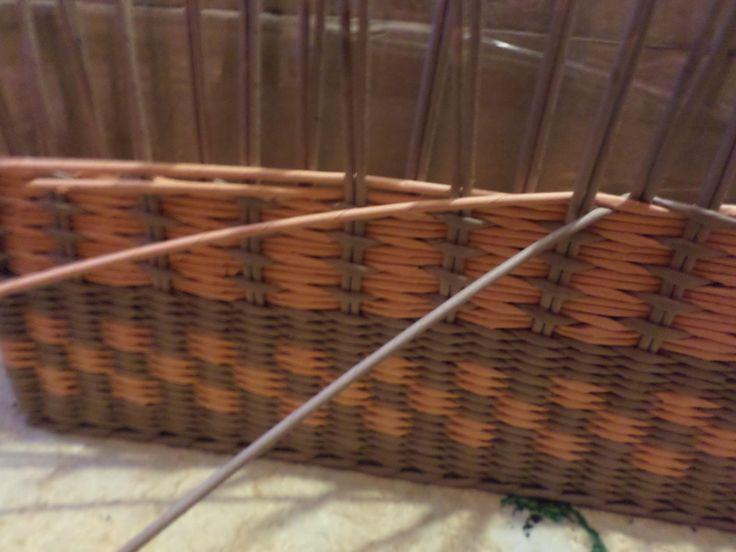 сразу 4 трубочками одновременно я плету узор - ситцевое с веревочкой