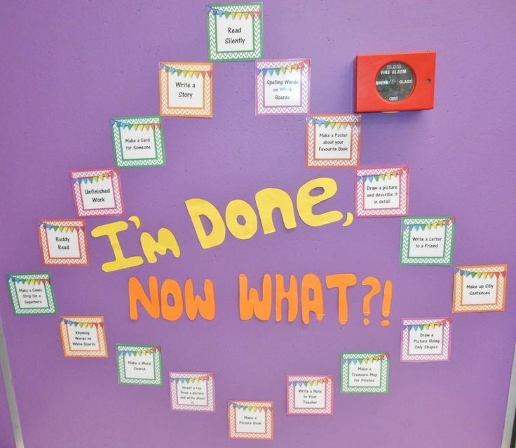 This is my 'I'm Done, Now What?' early finishers display! Some great activities :) Check them out!