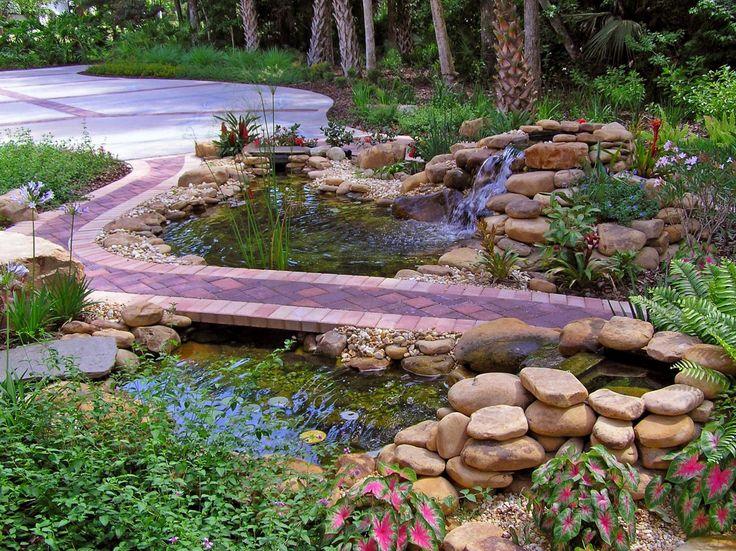 1146 best images about garden design landscape on for Pond edging ideas