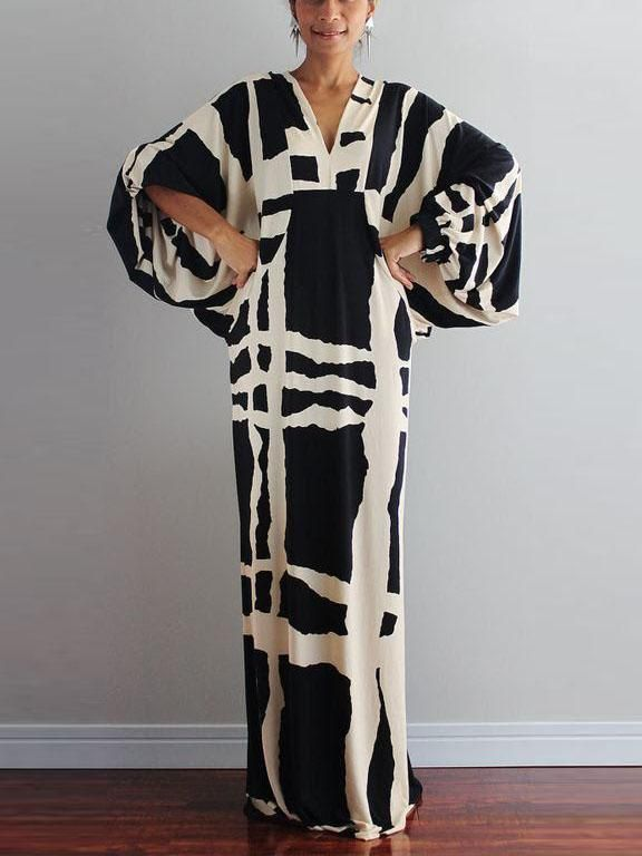 0fd0dc7f599 Product Fashion V Neck Printed Colour long Sleeve maxi Dresses Brand Name  MUMETAZ SKU insA05C3104AE88 Gender Women Style Elegant/Fashion/Vintage Type  Dress ...