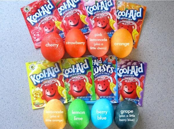Kool-aid Dyed Eggs Recipe