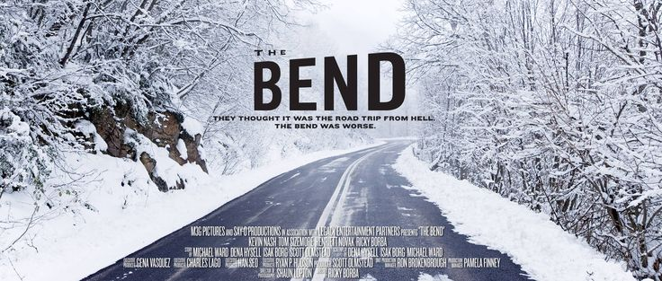 """Official Film Poster for """"The Bend"""" Starring Kevin Nash and Tom Sizemore"""