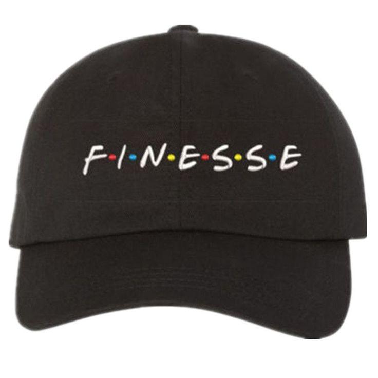 FINESSE - BLACK DAD Hat (slide buckle) #slidesoutfit