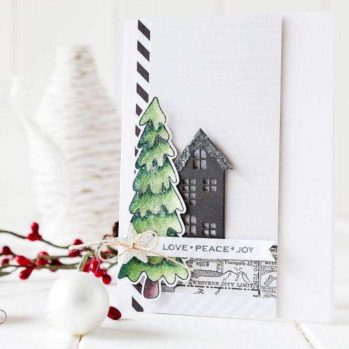 Masculine Christmas Tree 785 best card ~ christmas cards & envelopes images on pinterest