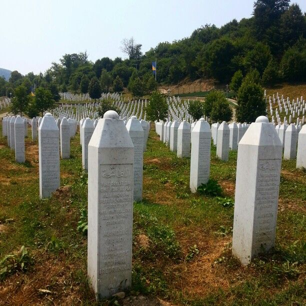 Remembering the atrocities at the Srebenica Memorial, bosnia