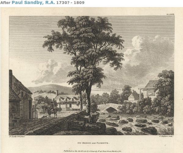 The town is the eighteenth century, Paul Sandby RA