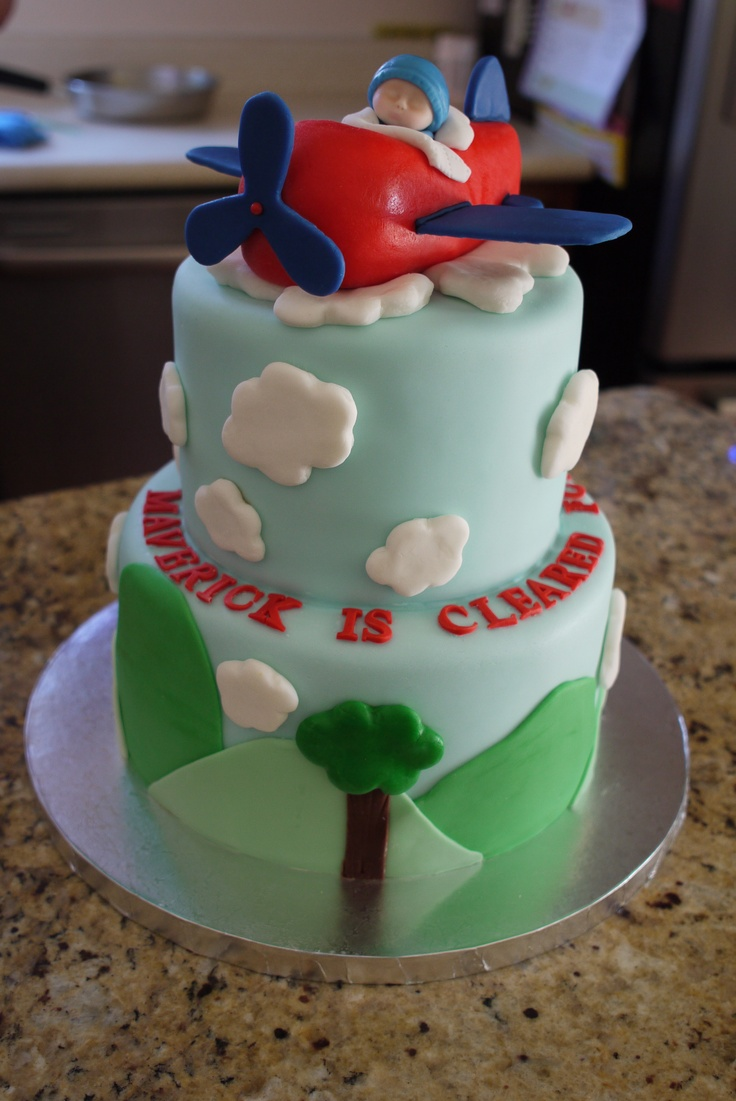 airplane baby shower cake inspired by bake me a cake