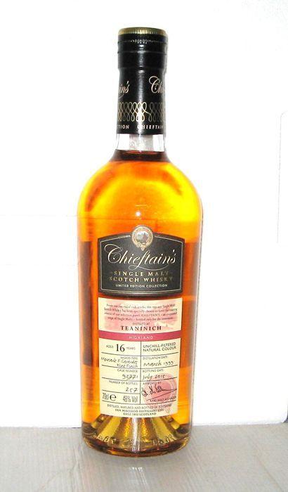 Teaninich 16 jaar oude - Highland - 70 cl. - 48% - stamhoofd van  Teaninich 16 jaar oude - Highland - 70 cl. - 48% - stamhoofd vanDatum van de distillatie:: maart 1999Bottelen datum:: juli 2015Type hout: Meursault F. Garaudet wijn voltooienVat nummer: 93771Aantal flessen: 257Veilige levering en verzekering inbegrepenGelieve niet dat het is verboden om alcohol te verzenden naar de Verenigde Staten en Canada behalve koopman met alcohol rijbewijs.  EUR 1.00  Meer informatie