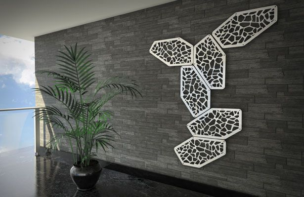Risot Decorative Wall Panel by Massimo Battaglia.- a perfect support for climbing plants.