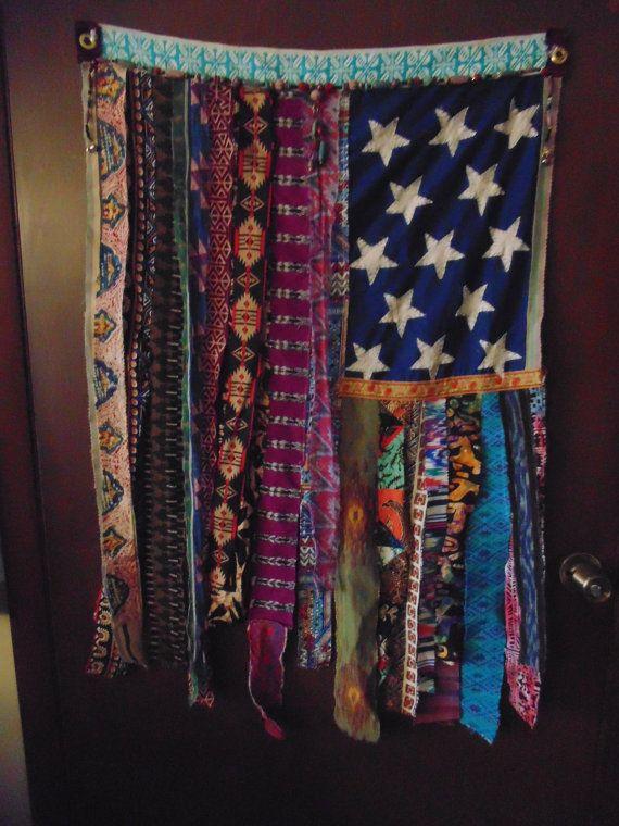 Bohemian ethnic door wall flag gypsy curtain beads Gypsy Hippie www.thesleepyarmadillo.com