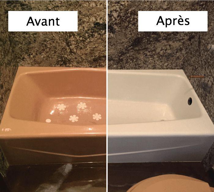 1001 Idees Peinture Pour Baignoire L Astuce Beaute De La Salle De Bain Baignoire Peinture Renovation Baignoire Baignoire