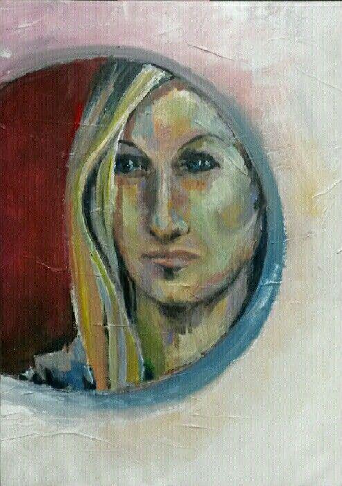 Lost girl, acryl on canvas 50x60 cm