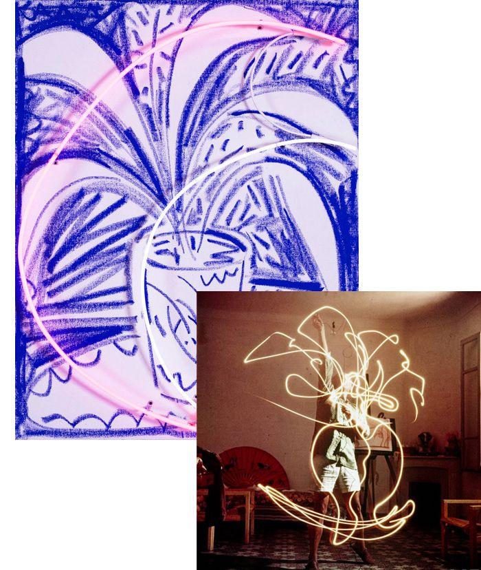 Min favoritfärg ihop med neonrosa! Om du frågar mig är konstnären Thrush Holmes tavlor magiska. Jag vill ha den här tavlan hemma. Eller den här. Så är det bara. Sen hade man ju inte direkt...