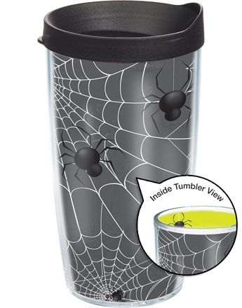 We don't like spiders, but maybe you know someone who does? 16oz Spider Wrap Tumbler $15.00 #Halloween