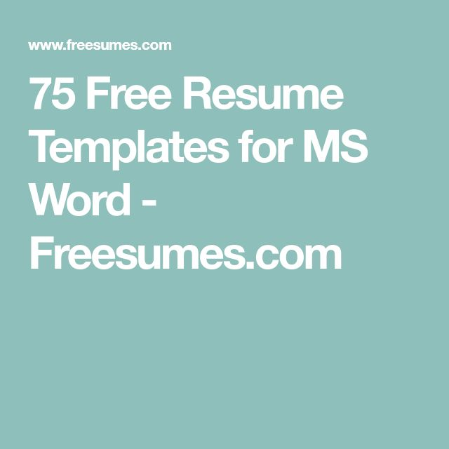 Best 25+ Free resume ideas on Pinterest Resume, Resume work and - resume templates microsoft word 2003