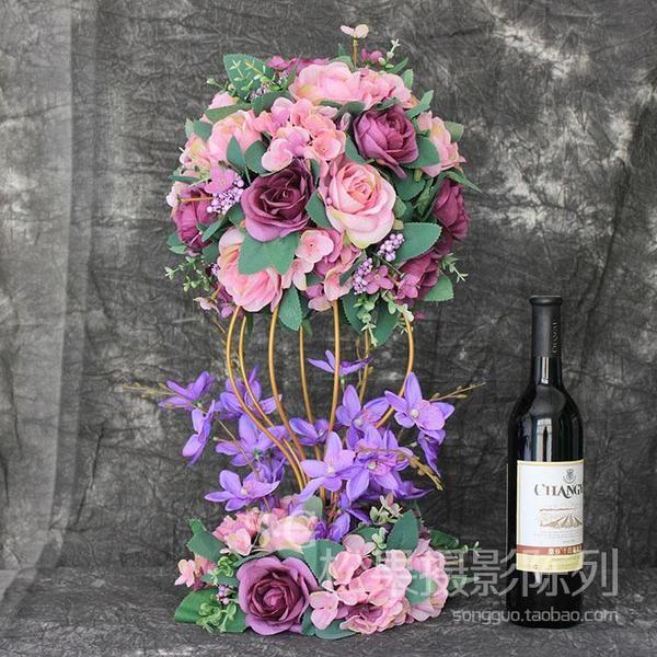 украшение Студия окно сфотографировали декорации реквизит и устанавливает главный стол цветок Свадебная композиция в гостинице стол цветы моделирования Цветочные