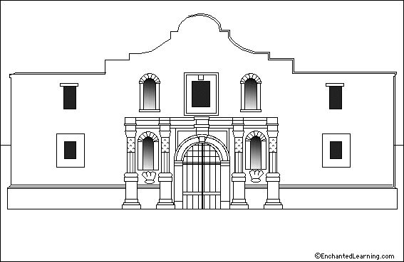 alamo battle coloring pages - photo#11
