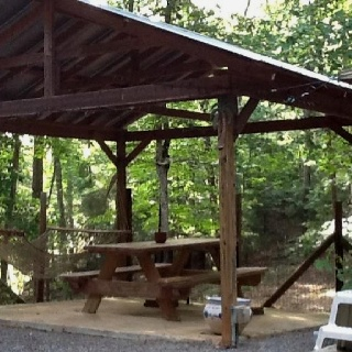 Backyard hammock & gazebo