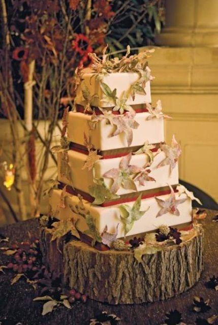 64 Awesome Fall Wedding Cakes Weddingomania | Weddingomania