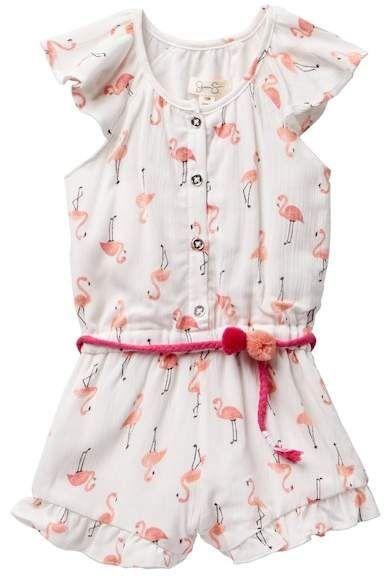 50481d9df0a2 Jessica Simpson Flamingo Print Romper (Baby Girls 12-24M)  babypajamas