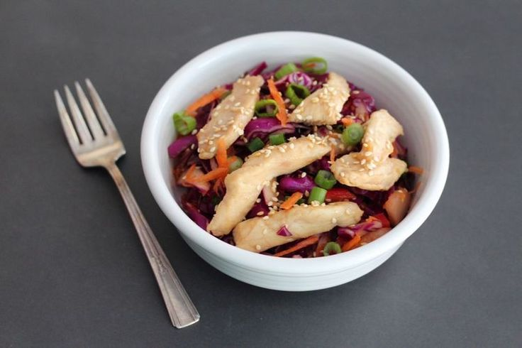 Crunchy Slaw With Teriyaki Chicken: Tasty Way to Eat Your Vegetables