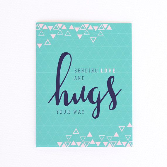 Saying Quotes About Sadness: Sympathy Card Sending Love & Hugs Card By