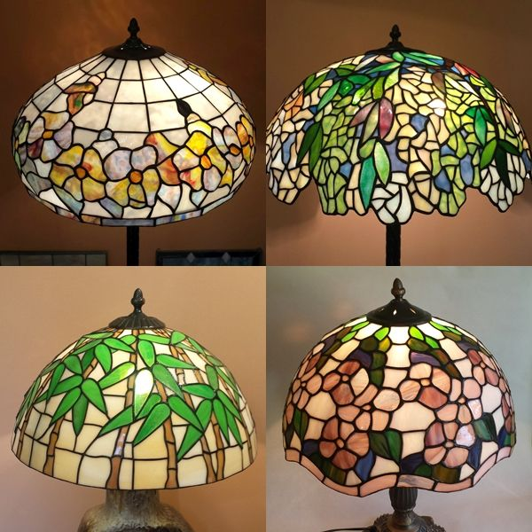 Stained glass lamps, lampshade (it's possible to mount on chain). Lampa witrażowa, możliwość montażu na łańcuchu