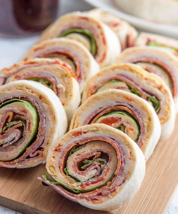 Italian Pinwheels  (The recipe calls for  taco soft tortillas - I may change that to burrito size and double the recipe.)