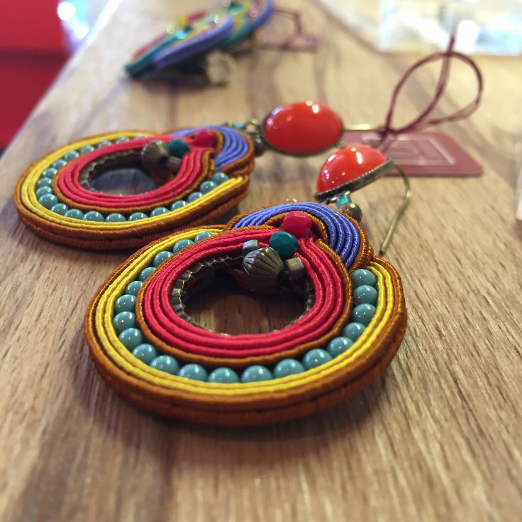 Soutache earrings: from Dori Csengeri