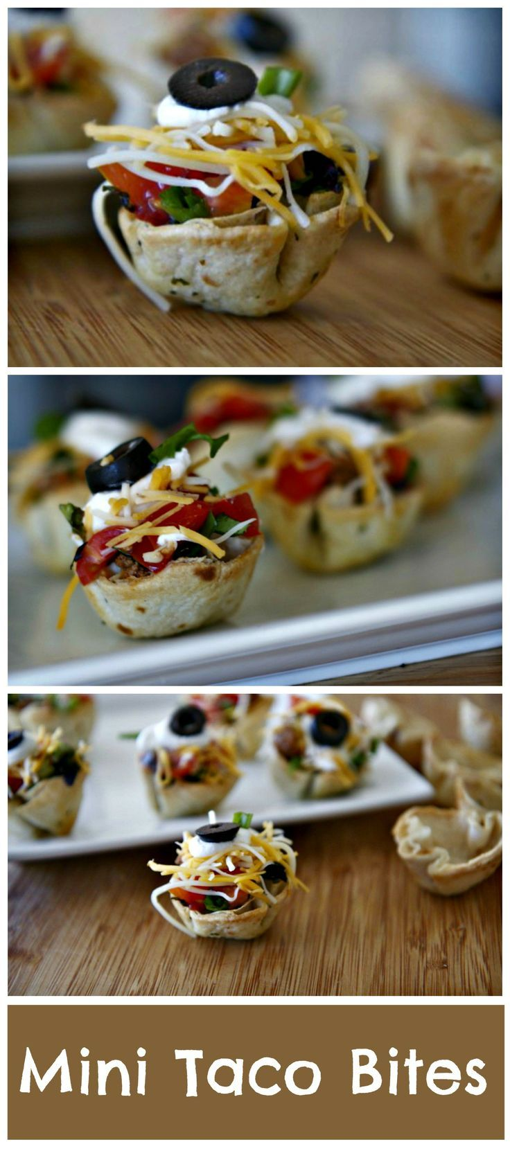 Mini Taco Bites. #appetizer #Football