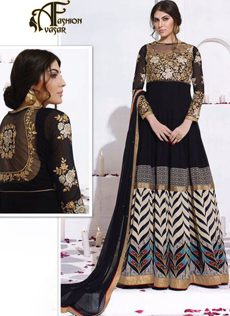 Black Anarkali Suits Online Shopping