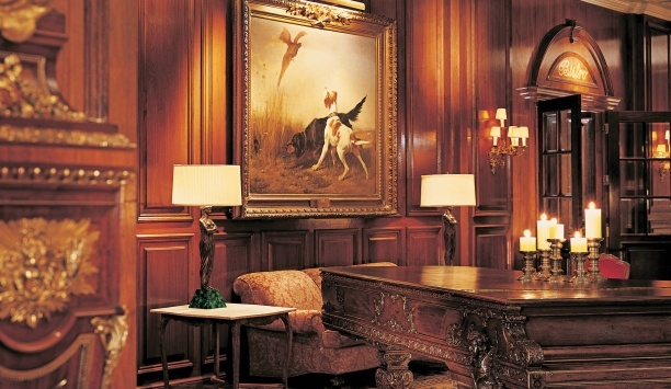 Entertain in the richly decorated wood-paneled lobby.