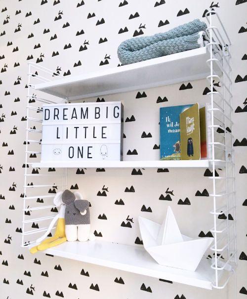 Wit wandrek in onze babykamer - bekijk en koop de producten van dit beeld op shopinstijl.nl