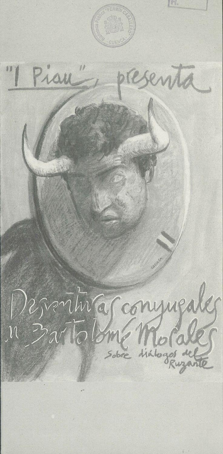 """""""Desventuras conyugales de Bartolomé Morales"""" inspirada en los """"Diálogos"""" de """"Ruzante"""" por el grupo """"I Piau"""" Cuenca 1996 #Cuenca #Teatro #IPiau"""