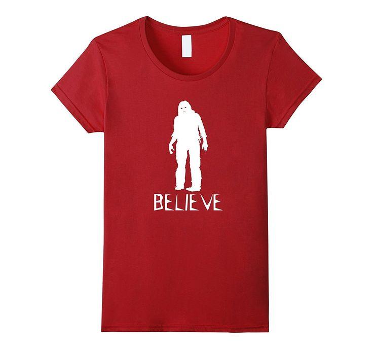 Believe Bigfoot Sasquatch - Scary Costume T Shirt