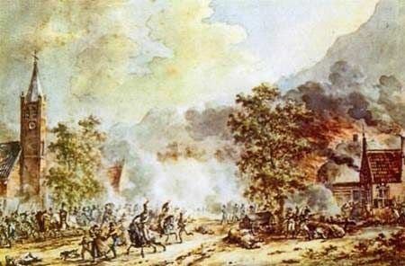 Battle of Castricum, 6 October 1799. I'm not 100% sure, but I think this may refer to the battle during the Helder campaign in which Lord Chatham was struck by a spent ball (definitely 6 October, but I've seen it recorded as the battle of egmont-op-zee or the battle of Beverwijk-- two different places!). Probably the closest Pitt the Younger got to becoming 3rd Earl of Chatham. ..