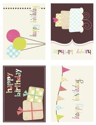 Mini cartes d'anniversaire