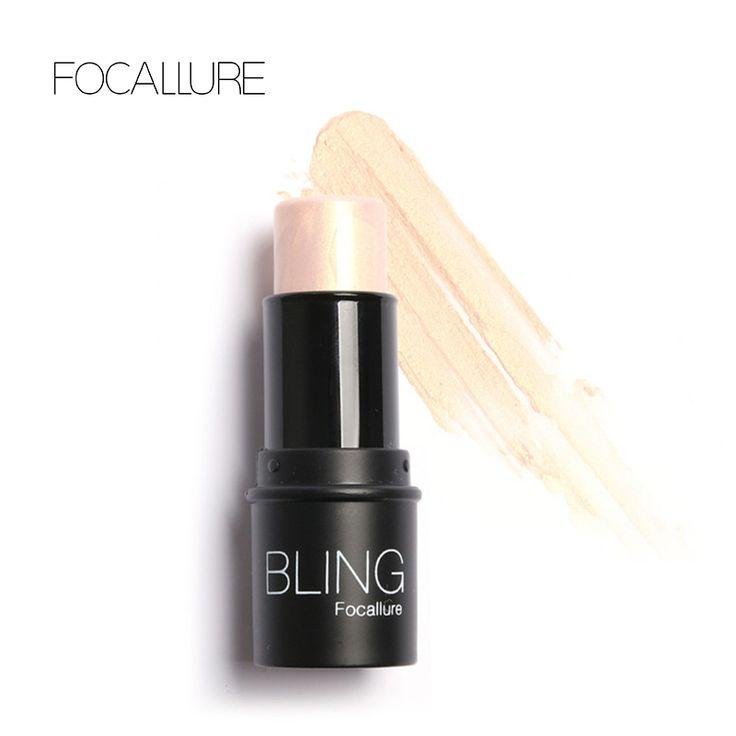 Focallure Bling Bubuk Highlighter tongkat Seluruh Shimmer Menyoroti Tekstur lembut air-bukti Perak Shimmer Cahaya