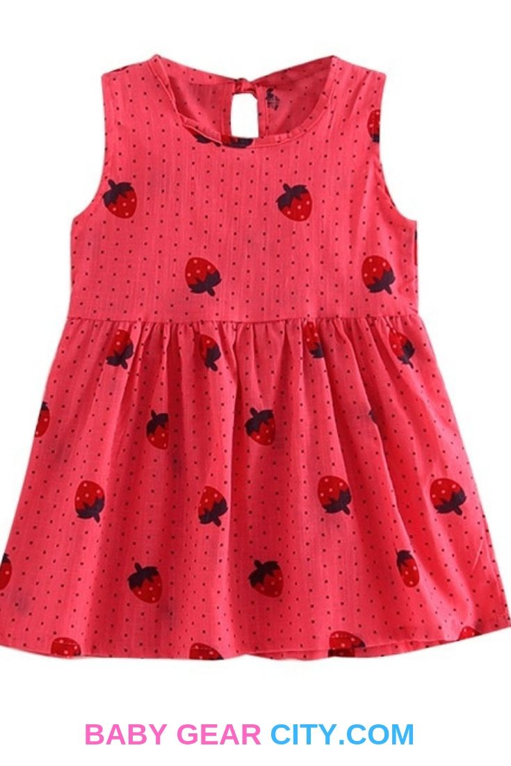 Baby Girl Summer Sleeveless Cotton Dress - Baby Gear City  Girls