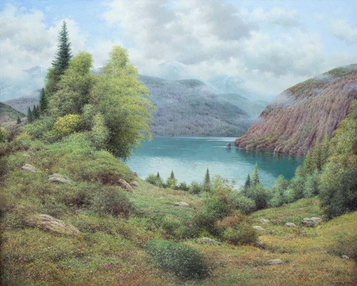 Vasily Gribennikov Lake Sary-Chelek, 80*100, 2015