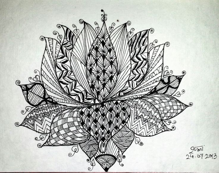 Zentangle Flower Tattoo 17 Best images about z...