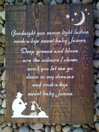 "Sweet Baby James - love this for Baby James' room. Except I think they spelled ""choose"" wrong here."