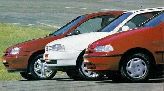 Chevrolet Corsa vs Fiat Palio vs Volkswagen Gol