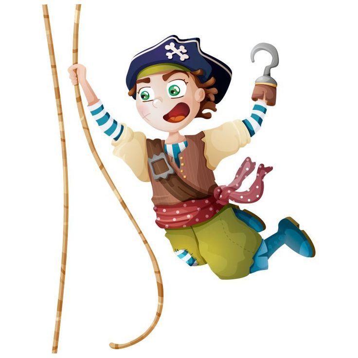 A l'abordaaage ! Sam est le plus intrépide de tous les capitaines. Il n'a jamais peur de partir à l'attaque d'un nouveau navire. D'ailleurs, un jour cela lui a coûté sa main... Vous aussi, inventez les plus folles histoires sur les murs de vos enfants grâce à ce sticker pirate sur corde !  Ce sticker mural pirate existe en 3 formats.