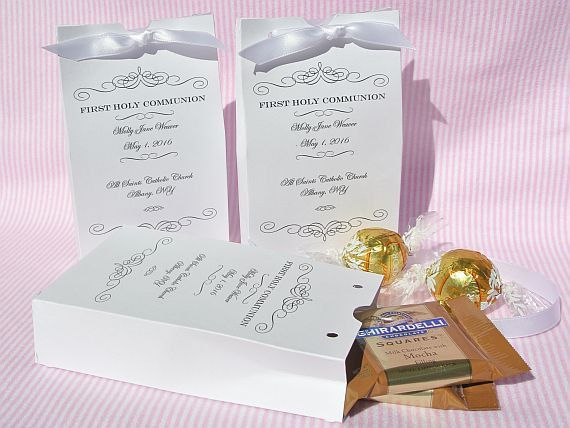 First Communion Party Favors - Holy Communion Decorations - First Communion - Communion Favor Boxes - Religious Favors - Confirmation Favor