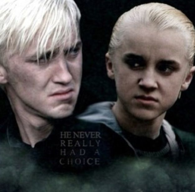 Draco: The boy who didn't have a choice. There's always been a small soft spot in my heart for Draco...very small and not til he realizes he was a prick