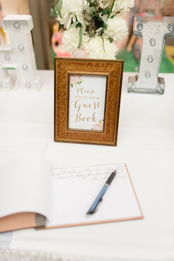 bridal shower keepsake book%0A Mint and Gold Life u    s Simple Pleasures Wedding In Michigan  please sign our guest  book sign