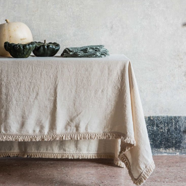 R Fringed Linen Tablecloths Table Cloth Dining Room Tablecloth Custom Drapes